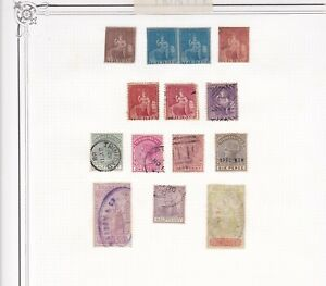 Early Trinidad collection including imperf pair, mixed condition