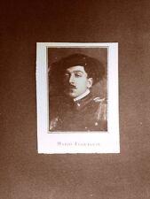 Stampa del 1923 Mario Ferraguti Collaboratore rivista Illustrazione Italiana