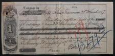 Henry Meiggs Peru CA San Francisco bill of exchange in gold 1877