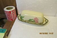 RARE HTF  Franciscan DESERT ROSE 1/4lb Butter Dish with NO FINIAL USA Tiny Chip