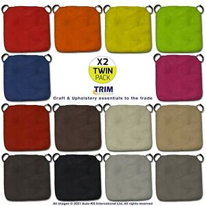2 x Seat Pad Cushions Chair Indoor Outdoor Kitchen Dining Room With Filling