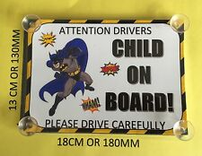 I SUPEREROI BATMAN Bambino A Bordo Auto Firmare laminato