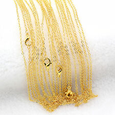 "Wholesale Lots 5/10Pcs 1.4mm Gold Plated ""O"" Circle Rolo Chain Necklace 16"""