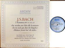 ARCHIV JS Bach RICHTER Cantatas #65 #108 & #124 TOPPER Haefliger SAPM 198 416