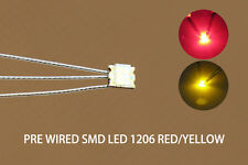 DT1206RY 20pc Pre-soldered litz wired leads Bi-color RED/YELLOW SMD Led 1206 NEW