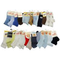Lot 12 pair Kid Crew Ankle Socks Toddler Boys Casual Multi Color Sock  12-24 Mo