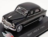 Altaya 1/43 Scale Diecast IR084 - 1954 Seat 1400 A - Black