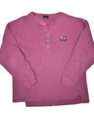 Vintage Golds Gym Henley Sweatshirt Mens M Purple Made in USA Heavyweight
