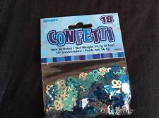 Blue 18th Birthday Confetti