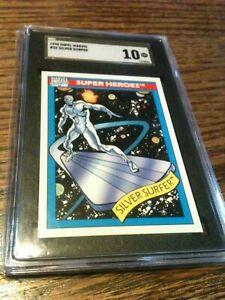 1990 Impel Marvel Universe #32 Silver Surfer SGC 10 Pristine Gold Label POP 1/1