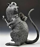 Banksy Limited Edition Rat sculpture, walled off, gross domestic
