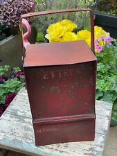 Vintage Indian Steel Letterbox Original Red Paint Lockable Post Wall Fixed