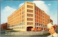Old Print. Richmond, Virginia.  L&M, Chesterfield, and Lark cigarette building