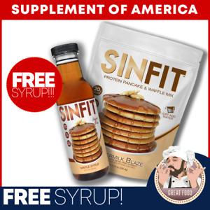 PROTEIN Pancake + FREE Syrup (Gluten FREE, ZERO Fat, 20G Protein) FREE SHIPPING