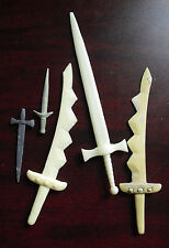 Lot of Unique Plastic Resin Prototype Lord of the Rings Action Figure Weapons #2
