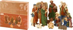 11 Piece Traditional Resin Small Christmas Nativity Figurine Scene Display Set
