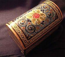 Persian Khatam Yakhchal Decor Jewelry Box Lined Esleemee Treasure Chest YA313