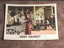 GUN GLORY 1957 LOBBY CARD #7 WESTERN