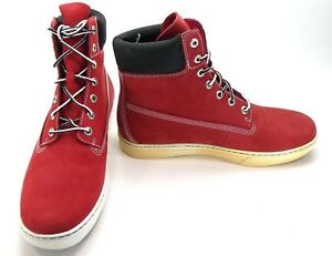 Timberland Shoes 6 Inch Premium 2.0 Cupsole Red/Black Boots Size 9.5