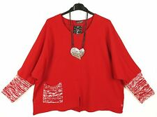 NEU SARAH SANTOS Sweat Tunika Tunic Tunique XXL 52 54 Lagenlook