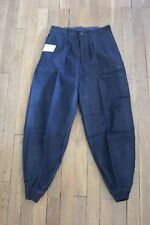Vintage neuf Ancien pantacourt style chasse Velours Bleu marine Enfant 16 ans 36
