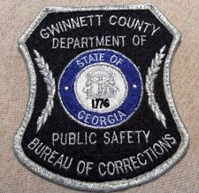 GA Gwinnett County Georgia Department of Corrections Patch