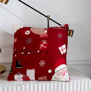 Merry Christmas Santa Claus Elastic Couch Sofa Cover Spandex Slipcover Protector