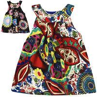 été bébé enfant en bas âge Fille Floral Boho robe princesse PLAGE VACANCES