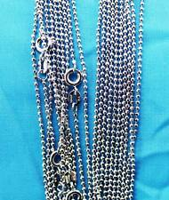 wholesale lots 10pcs Silver 1.0mm pearl Chain Necklace Free shipping LT3