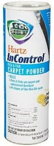 Hartz Flea & Tick for Carpet Powder USA 400 sq ft each Fresh LOT OF 3 -16oz each