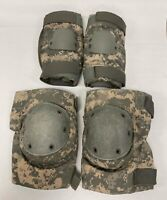 US Army Military Surplus Elbow/Knee Pad Set Used ACU Large Grade B/C USGI