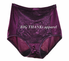 Set of 2 Vanity Fair Body Caress Smoothing Lace Brief Panty 13262 purple size 7
