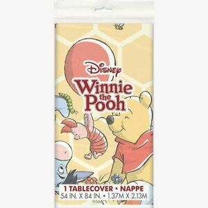 Winnie The Pooh Tablecover 54 x 84 Birthday Shower