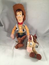 "Walt Disney Woody 16"" Bullseye 8"" Plush Dolls Toy Story"