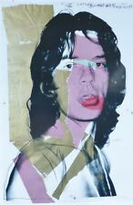 """ANDY WARHOL """" MICK JAGGER 1975 """" ROLLING STONES ORIGINAL POSTER PLATE SIGNED"""
