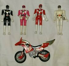 1994 Bandai Mighty Morphin Power Rangers Thunder Bike w/ Red Ranger Lot of 4