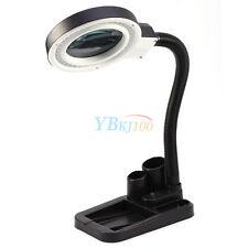 Nouveau 220V Lampe Loupe de Bureau à LED Grossissement 5X 10X + Lumiere 40  LED