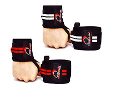 """Heavy Duty Weight Power Lifting 18"""" Long High Quality Wrist Wraps Straps Support"""