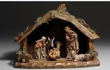 """8 Piece Kostner Nativity Woodcarving Set by PEMA - 5"""" Wood Pieces"""