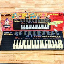 CASIO SA-1 Tone Bank Keyboard Piano Synthesizer 1980s Works! Retro Funky Fun