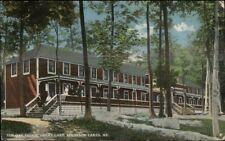 Belgrade Lakes ME Red Oak Lodge Great Lake c1910 Postcard