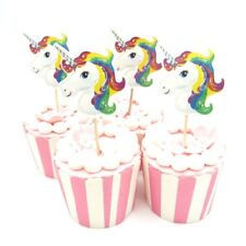 Cake Topper Figurine Figure Decoration Birthday Characters - UNICORNS set of 24