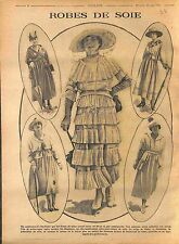 Robes Soie Crêpe de chine Shantung Gabardine Jersey Mode Paris Fashion WWI 1916