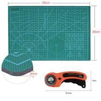 Schneidematte 45x30cm A3 PVC Schneideunterlage Rollschneider Set work Cutter DE