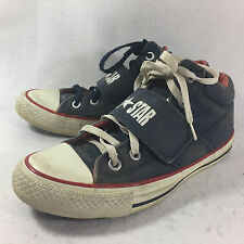 Converse All Star Mid Strap Navy Blue Men 6 Women 8 Athletic Blue