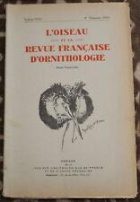 L'OISEAU et la Revue française d'Ornithologie ✤ VoL XXV / 4è trimestre 1955