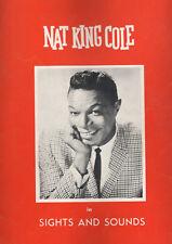 Nat King Cole Concert Souvenir Program 1962 Sights and Sounds Tour