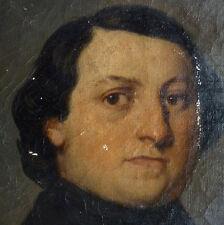 Portrait d'homme Peinture 19e siècle école de INGRES à restaurer Avallon (Yonne)