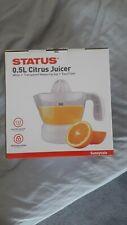 NEW Status Citrus Fruit Juicer Juice Press Electric Extractor 0.5Litre 30W White