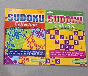 Lot of 2 KAPPA Collection SUDOKU Books from Easy to Hard Puzzle vol. 136 & 137